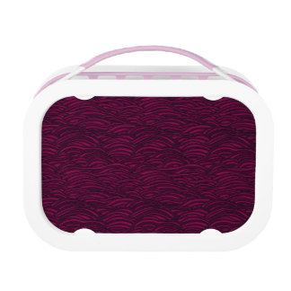 Purple waves pattern. Sea texture. Lunch Box