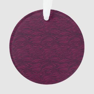 Purple waves pattern. Sea texture. Ornament