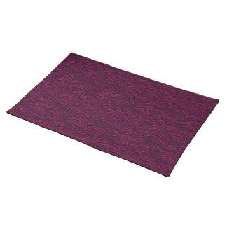 Purple waves pattern. Sea texture. Placemat