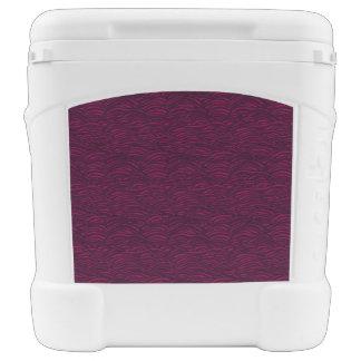 Purple waves pattern. Sea texture. Rolling Cooler