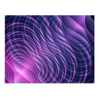 Purple waves postcard