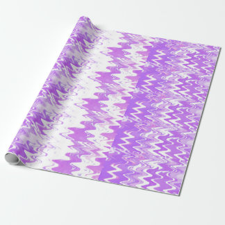 Purple Waves Wrapping Paper