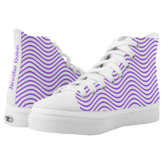Purple Wavy Lines You Choose the Background Color