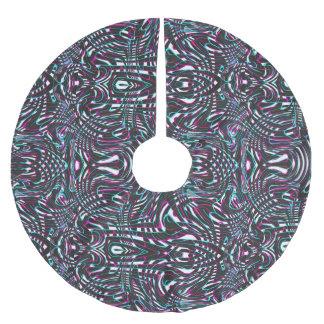 Purple wavy stripes optical illusion brushed polyester tree skirt