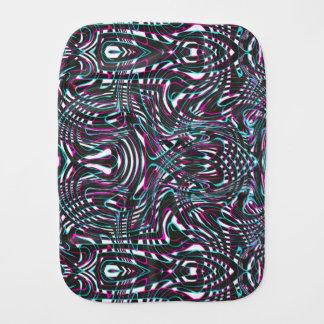 Purple wavy stripes optical illusion burp cloth