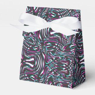 Purple wavy stripes optical illusion favor box