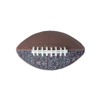 Purple wavy stripes optical illusion football