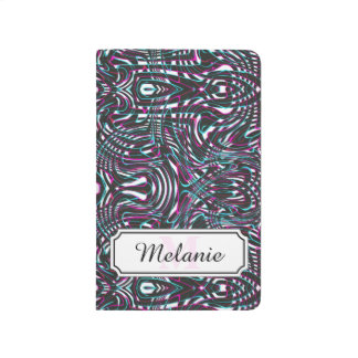 Purple wavy stripes optical illusion journal