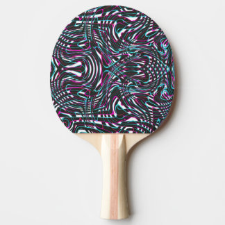 Purple wavy stripes optical illusion ping pong paddle