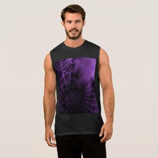 Purple Webs Sleeveless Shirt
