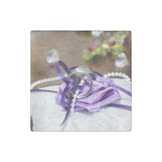 Purple Wedding Stone Magnet