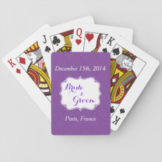 Purple Wedding Party Favor Playing Cards