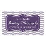 Purple Wedding Photographer Business Cards