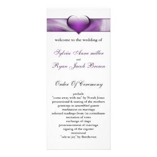 purple Wedding program Rack Card Template