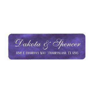 Purple Wedding   Royal Violet Watercolor Address