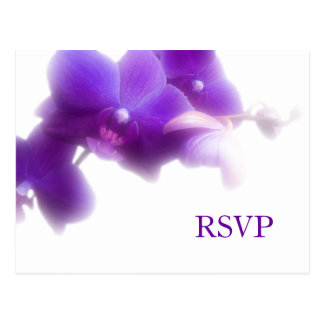 Purple Wedding RSVP Postcard