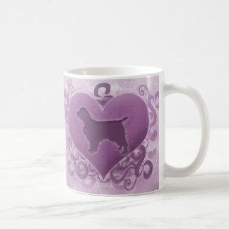 Purple Welsh Springer Spaniel Valentine Coffee Mug