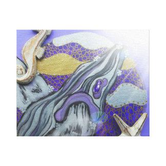Purple whale canvas print