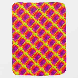purple whales yellow Thunder_Cove Baby Blanket