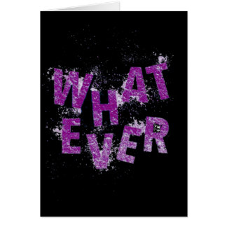 Purple Whatever Card