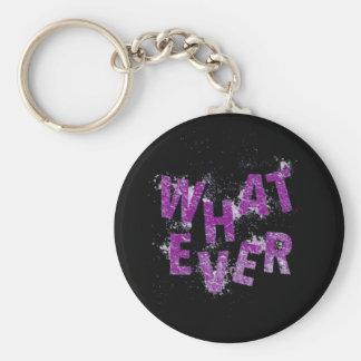 Purple Whatever Keychain