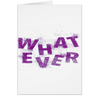 Purple Whatever PNG Card