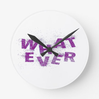 Purple Whatever PNG Round Clock