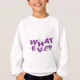 Purple Whatever PNG Sweatshirt