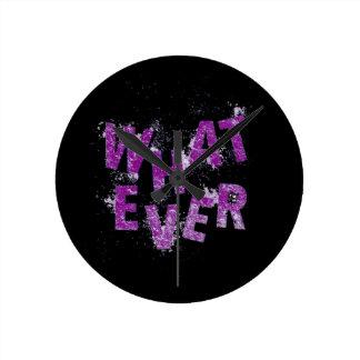Purple Whatever Round Clock
