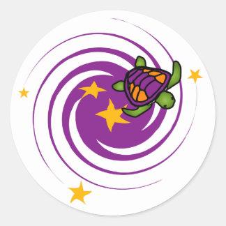 Purple Whirl Turtle Sticker