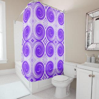 Purple White Abstract Swirl Pattern
