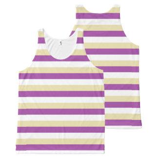Purple, White and Beige Stripes