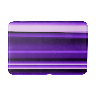 Purple White and Black Lines Bath Mat