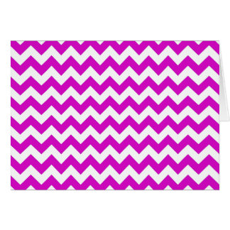 Purple White Chevron Card