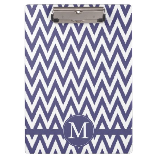 Purple White Chevron Monogram Clipboard