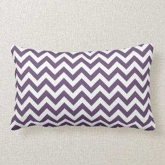 Purple White Chevron Pattern Lumbar Pillow