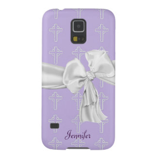 Purple & White Christian Samsung Galaxy S5 Case