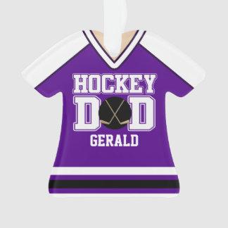 Purple/White Custom Hockey Dad Jersey