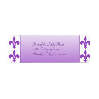 Purple & White Fleur De Lis Wedding