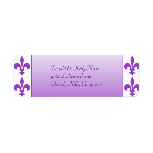 Purple & White Fleur De Lis Wedding