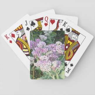Purple White Flowers Classic Poker Playing Cards