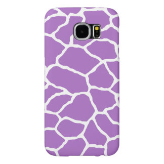 Purple White Giraffe Skin Pattern Samsung Galaxy S Samsung Galaxy S6 Cases