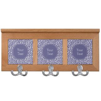 Purple White Leopard Print Coat Racks