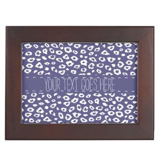 Purple White Leopard Print Memory Boxes