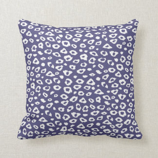 Purple White Leopard Print Pillow