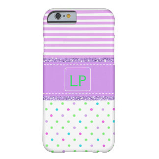 Purple, White, Lime Green Monogrammed Cell Case