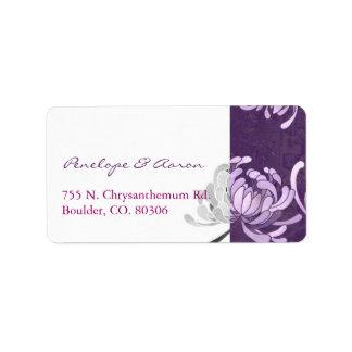Purple + White Monotone Wedding Address Labels