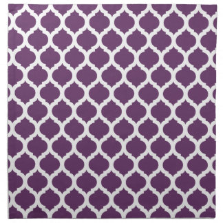 Purple & White Moroccan Pattern Napkin