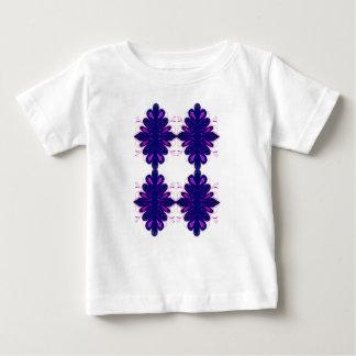 Purple white Ornaments Baby T-Shirt