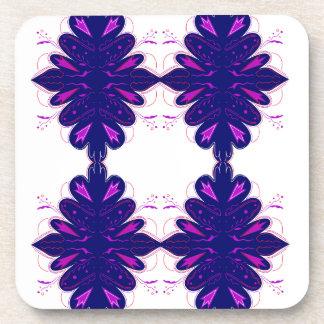 Purple white Ornaments Beverage Coasters